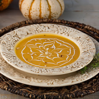 Butternut Squash Soup With Toasted Cashews.