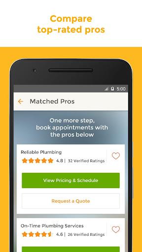 HomeAdvisor Home Contractors Screenshot