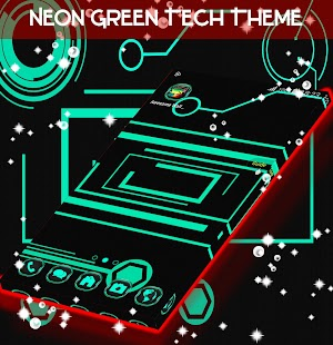 Téma Neon Green Tech - náhled
