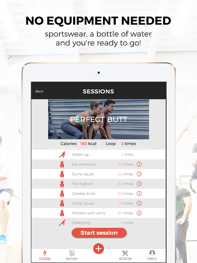 101 Fitness - My personal fit plan at home- screenshot