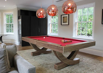 Modern Pool Table in Living Space