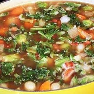 Hearty Vegetable Bean Soup.