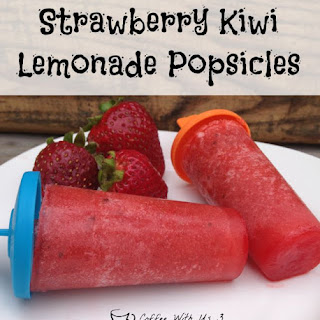 Strawberry Kiwi Lemonade Popsicles