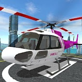 Futuristic Helicopter Rescue Simulator Flying