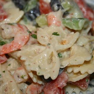 Shrimp with Bow Tie Pasta Salad.