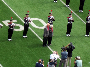 Photo: Ohio native, Mr. John Glenn being honored at halftime