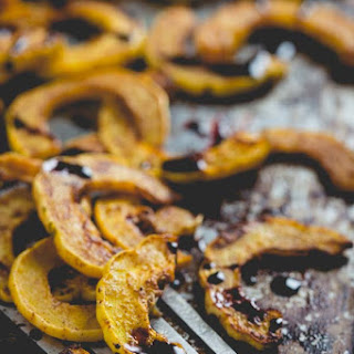 Spice Roasted Delicata Squash With Port Reduction {4 Ingredients}