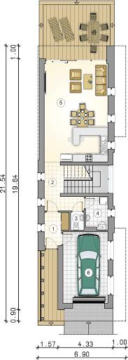 Modern House II - Rzut parteru
