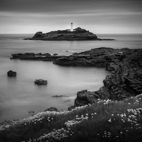 Godrevy Point by Chris Sargent - Landscapes Waterscapes ( lee, god revy, big stopper, cornwall )