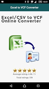 Excel to VCF Converter- screenshot thumbnail