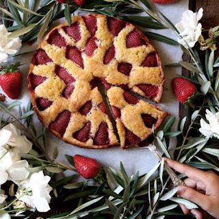 Strawberry Cardamom Torte