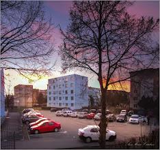 Photo: Turda - Calea Victoriei, parcare in Mr.1, apus de soare  - 2019.03.16