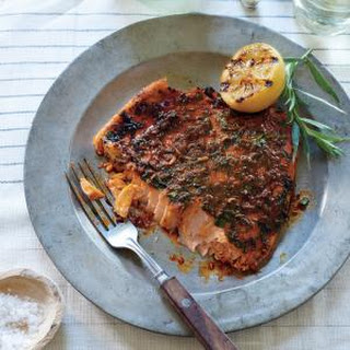 Pink Salmon with Smoky Herb Rub Recipe