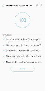 Mantenimiento dispositivo Screenshot