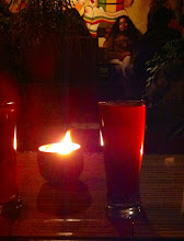 Photo: Night cap with a berry-grape guarapo at Sativa in Baños, Ecuador.  June 2012.