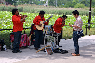 Photo: A Peruvian band performs in the park