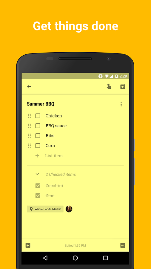 Google Notizen – Screenshot