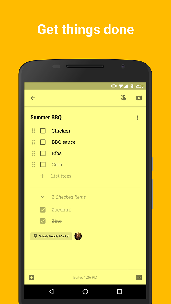 Google Keep screenshot #2