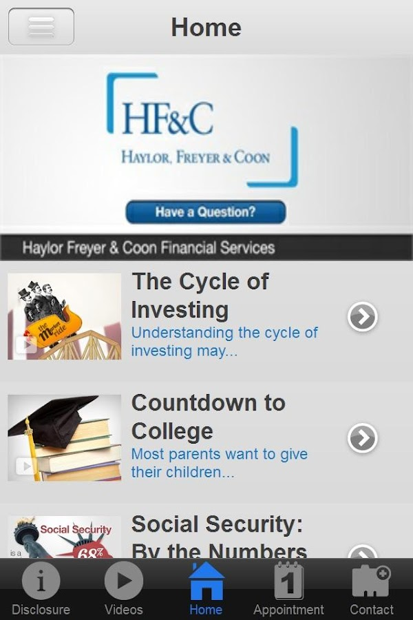 Haylor Freyer & Coon Financial- screenshot