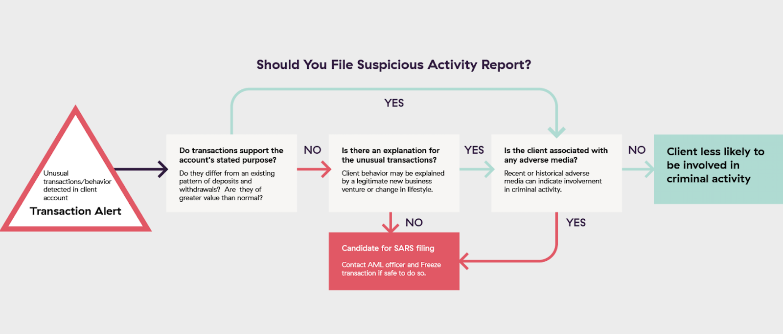 should you file a Suspicious Activity Report? Flowchart