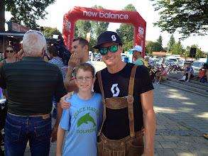 Photo: Riley with Luke McKenzie