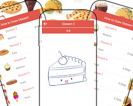 How to Draw Desserts & Food - screenshot thumbnail 01