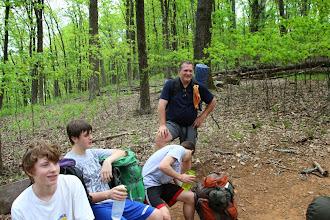 Photo: Trailside rest break.