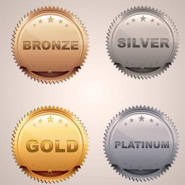 "Image result for bronze silver gold platinum health insurance"""