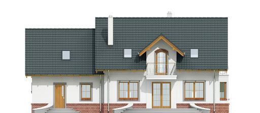 Dom Dla Ciebie 1 w4 z garażem 2-st. A1 - Elewacja tylna