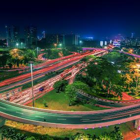 New Semanggi Bridge,Jakarta by David Loarid - City,  Street & Park  Street Scenes