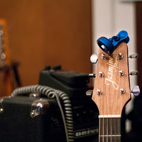 Practice Time by Frank Matlock II - Artistic Objects Musical Instruments ( colors, acoustic, guitar, amp, bokeh )