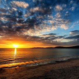 Lido sunset by Antonello Madau - Landscapes Sunsets & Sunrises ( antofender, antonello madau )