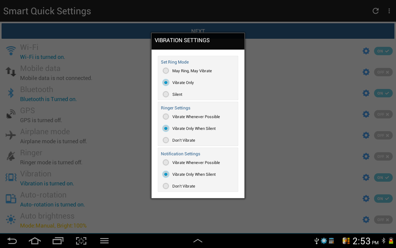 Smart Quick Settings- screenshot
