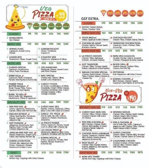 "Lapino""z Pizza menu 7"