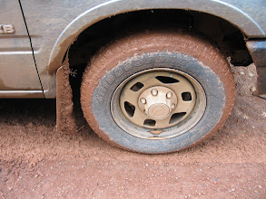 Photo: De auto's hebben veel te verduren.