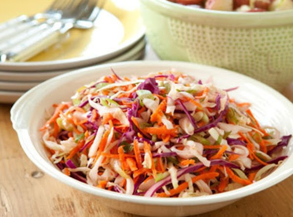 Pour dressing over cabbage and mix well.