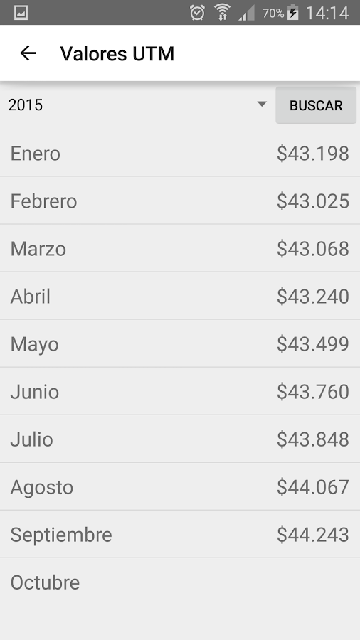 Indicadores Económicos Chile- screenshot
