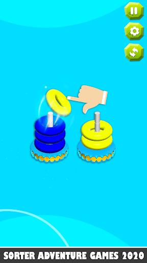 Bubble sort it games 3d-Hoop stacks new games 2020 android2mod screenshots 6