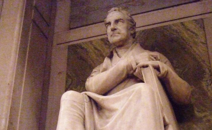 William Roscoe. statue, St George's Hall, Liverpool