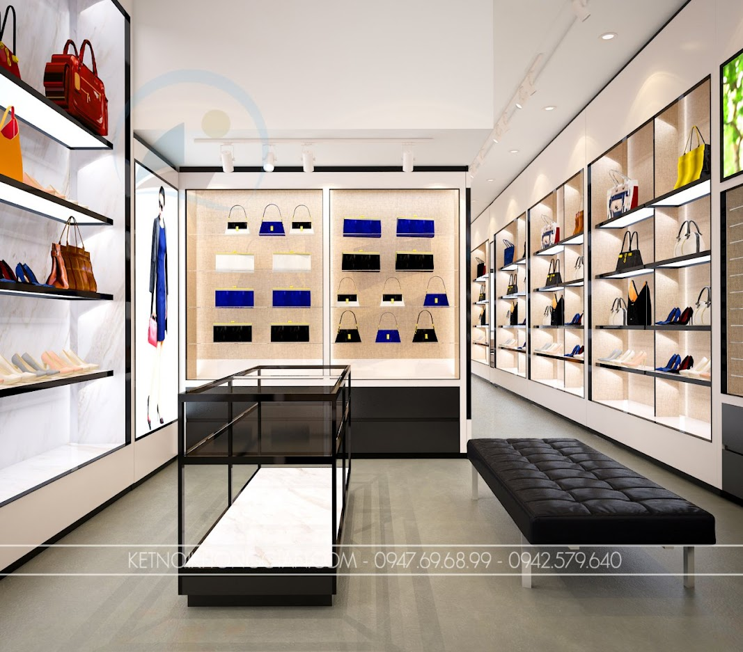 thiết kế shop túi xách trung hòa 12
