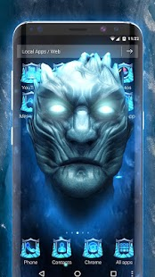 Ice White Walker 3D Theme- screenshot thumbnail