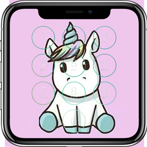 Cute Unicorn Lock Screen