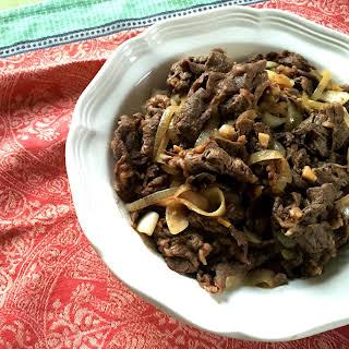 Filipino Bistek (Beef Steak).