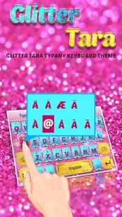 Glitter Tara Theme&Emoji Keyboard - náhled