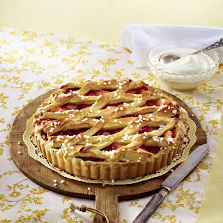 Rhubarb & Apple Lattice Tart