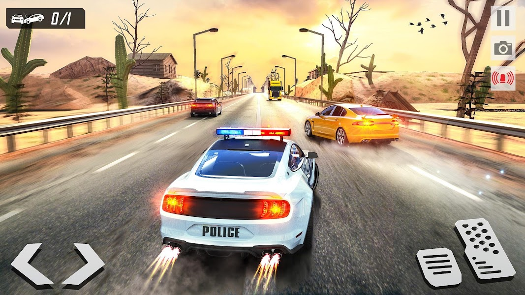Highway Racing Police Car Chase: Cop Simulator