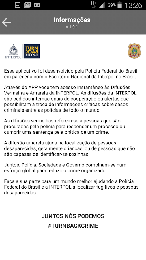 CheckPol: captura de tela