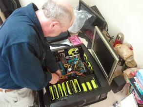 Photo: The Maestro, Antony Jackson helps birth my new sporty new machine