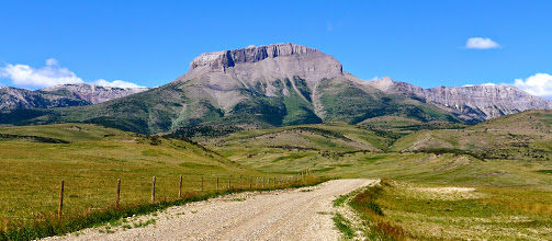 Photo: Behold, Ear Mountain! (2014 photo). The 125 mile journey from Helena includes about 25 miles of gravel. I take the Bellview Road out and then come back into Choteau on the Teton Canyon Road. I like to stop at the Ice Cream Parlor for a huckleberry milk-shake.