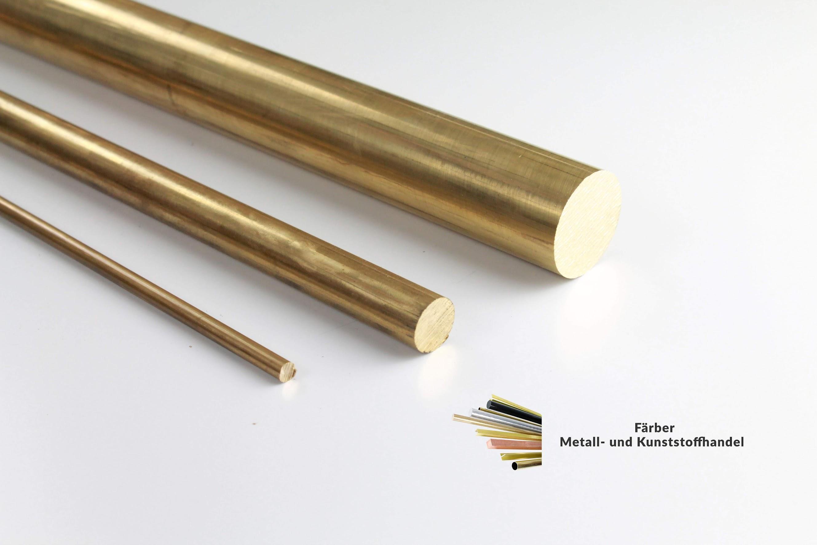 L: 1500mm 150cm Messing Rundstange Ms58 /Ø 20mm Messingstange auf Zuschnitt